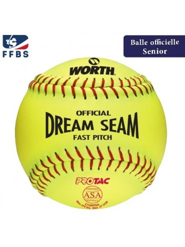 "BALLE SOFTBALL 12"" WORTH C12RYSA BASEBALL LEX SPORT"