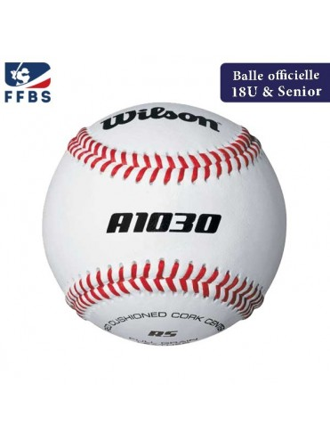 "BALLE BASEBALL 9"" OFFICIELLE FFBS FRANCE WILSON A1030 SOFTBALL LEX SPORT"