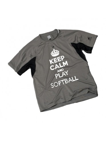 TEE-SHIRT KEEP CALM BASEBALL SOFTBALL LEX SPORT