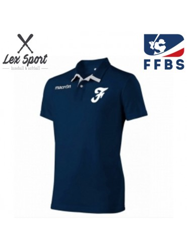 POLO MACRON FRANCE FFBS FEDERATION BASEBALL SOFTBALL LEX SPORT