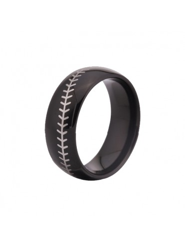 BAGUE FINITION TITANE BIJOU FANTAISIE COUTURE BALLE BASEBALL SOFTBALL LEX SPORT