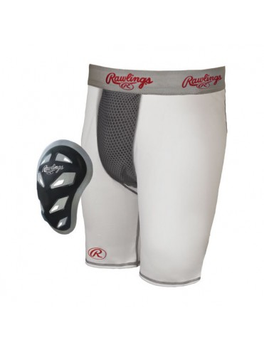 SHORT DE COMPRESSION RAWLINGS AVEC COQUILLE BASEBALL SOFTBALL LEX SPORT