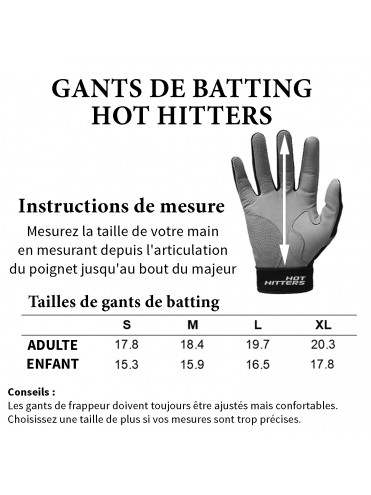 GANTS DE BATTING HOT HITTERS GHL ENFANT BASEBALL SOFTBALL LEX SPORT